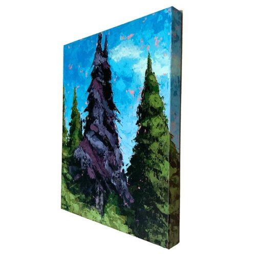 Purple Pines side view