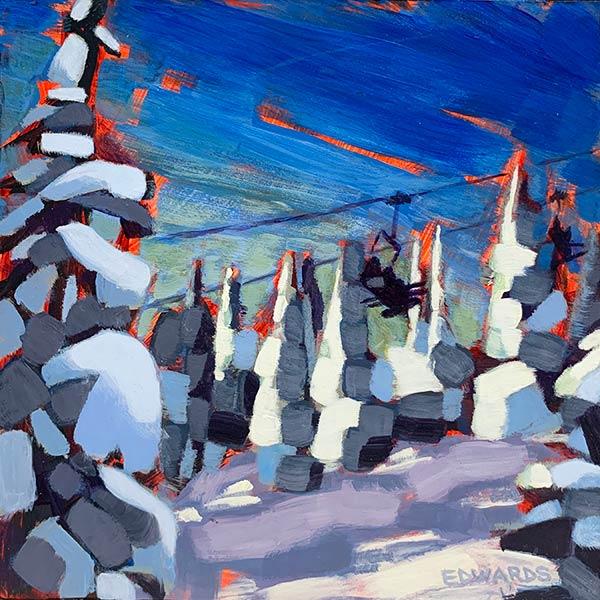 ski hill painting