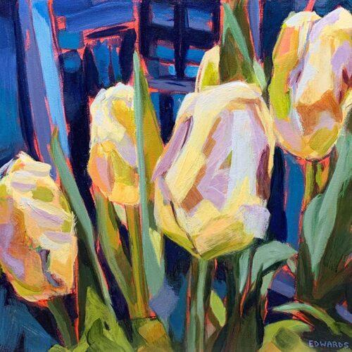 Softly Lit tulips