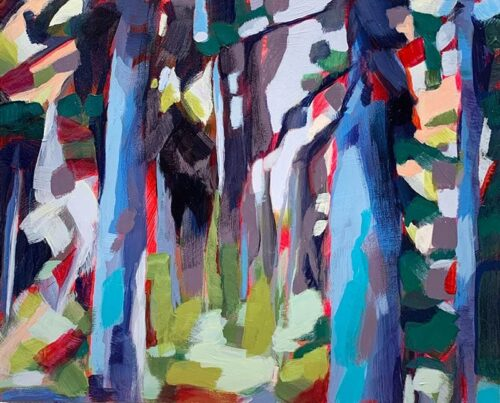 Forest Hues painting